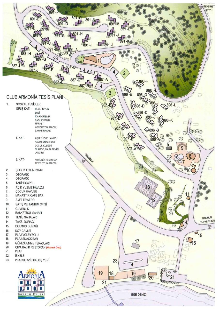 Club Armonia Tesis Planı